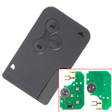 Excellent Quality (1piece)3 Button replacement remote card for R enault Megane Smart Card  with pcf7947 chip without logo