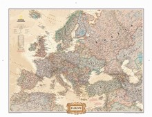 National geographic Asia Europe Map Canvas Oil Prints Painting Art Print Wall Pictures Living Room Home Wall Decor poster IP07
