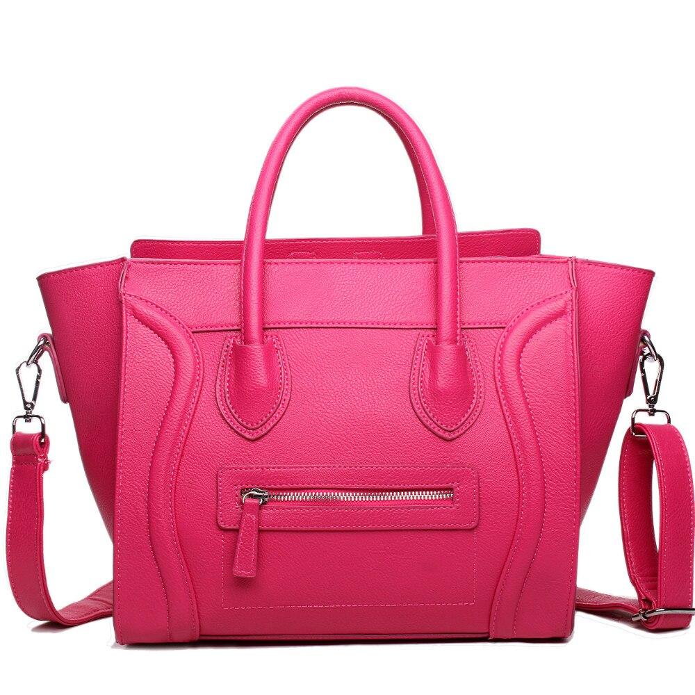 MISS LULU Women Designer Celebrity Leather Smile face handbag Shoulder Satchel Hand Bag Styles Large enough