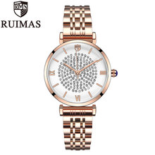 Ruimas Luxury Fashion Women Watches Lady Watch Stainless Steel Dress Quartz Wrist Gift Present Dropshipping