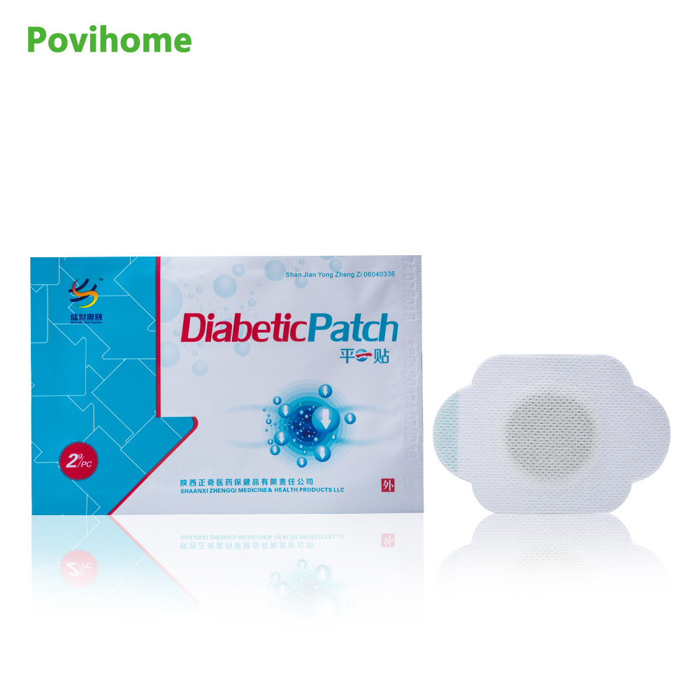 35pcs Povihome Diabetic Patch Control Blood Sugar Plaster Lower Blood Glucose Natural Herbs Health Care D0870 glucose meter with high quality accessories urine disease glucose meter test article 50 pc free blood 50 pcs of health care