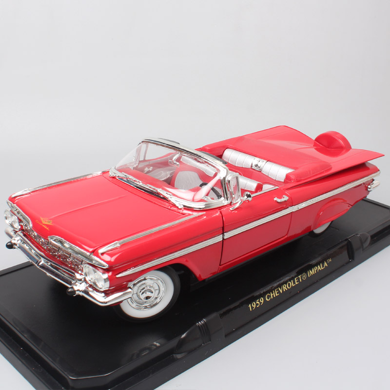 Road Signature Classic Chevy 1959 Chevrolet Lmpala Spyder Diecast 1:18 Big Scale Metal Models Cars & Vehicles Toys For Children