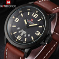 2016 NAVIFORCE Simple Brand Army Military Sport Watches Men Special Calendar Design Month Display Genuine Leather Wristwatches