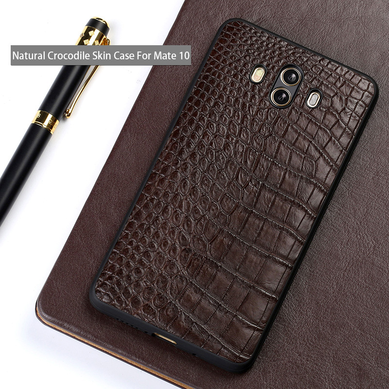 Genuine leather Phone case For Huawei Mate 10 csae Natural Crocodile Skin back cover For P10 P20 Pro Nova 2s Plus Honor 9 casesGenuine leather Phone case For Huawei Mate 10 csae Natural Crocodile Skin back cover For P10 P20 Pro Nova 2s Plus Honor 9 cases
