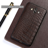 Genuine leather Phone case For Huawei Mate 10 csae Natural Crocodile Skin back cover For P10 P20 Pro Nova 2s Plus Honor 9 cases