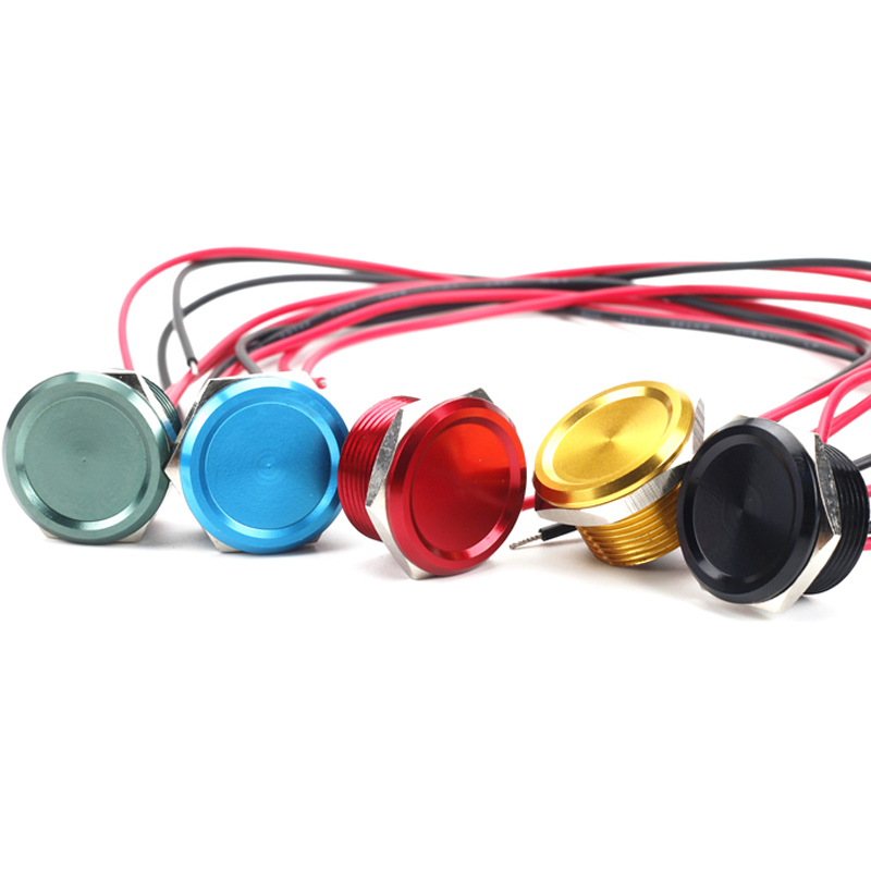 22mm en aluminium anodisé interrupteur piezo (Rohs, CE) étanche IP68 5 couleur bouton-poussoir