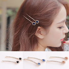 LNRRABC 1PC New Trendy Women Unique Hair Pin Exquisite Graceful Alloy Simple High Quality Crystal Barrettes Drop Shipping