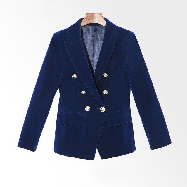 2019 New Spring And Autumn Slim Gold Velvet Small Suit Jacket Female Leisure Blazer Women Blazer Coat