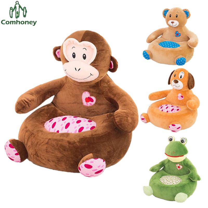 silla del bolso de haba del beb mono elefante de alimentacin silla asiento nios sof para