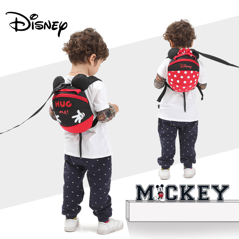 Disney Harnesses Cartoon Toddler Anti Lost Backpack Antilost Wrist Link Children Schoolbag Walking Leashes Bag Wristband Belt