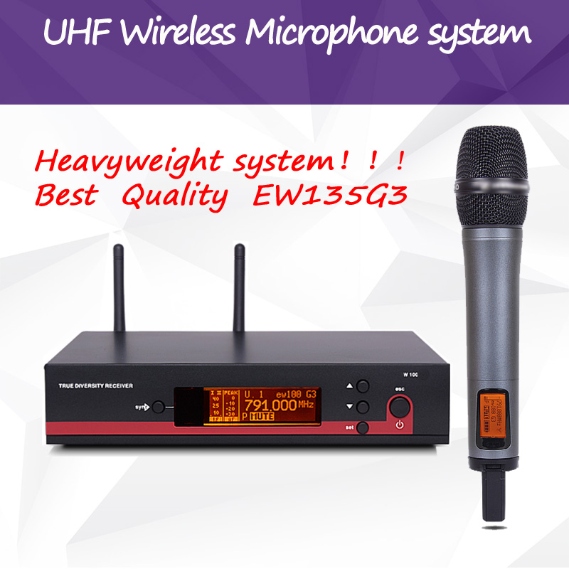 2017 NEW!!Professional EW135G3 100G3 True Diversity Handheld UHF Wireless Microphone System Headset mic Lavalier clip microphone free shipping 2 4g true diversity receiver xsw35 professional uhf wireless microphone system vocal set xsw 35 cordless mic mike