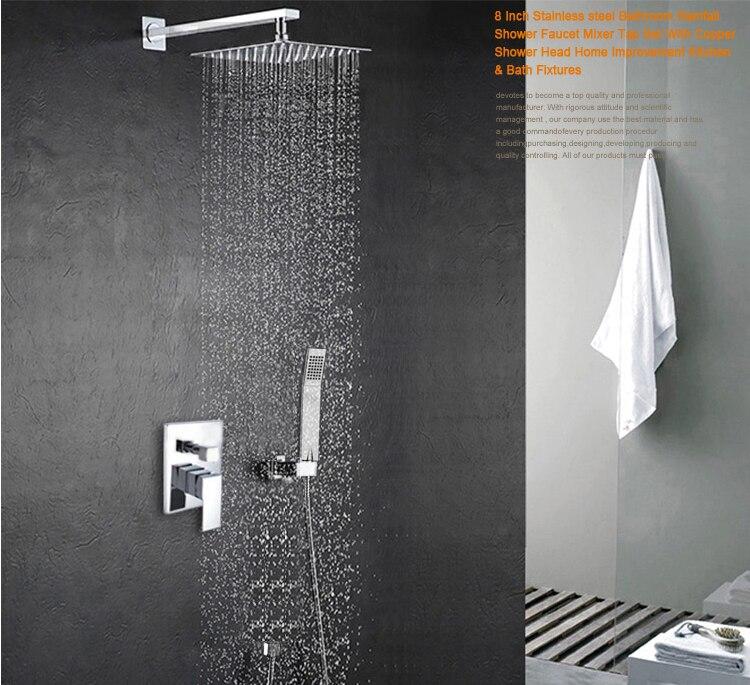 becola fino pulgadas juego de ducha a presin de rociadores juego de ducha cuadrada ducha