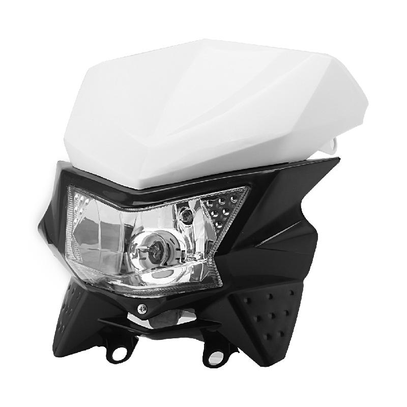 Ironwalls Universal Black White Motorcycle Headlight Fairing Kit With City Light 12V For Honda Yamaha Suzuki Kawasaki Dirt Bike ironwalls xxxl atv waterproof cover outdoor protector camo black silver for honda banshee suzuki yamaha raptor quads polaris 3xl