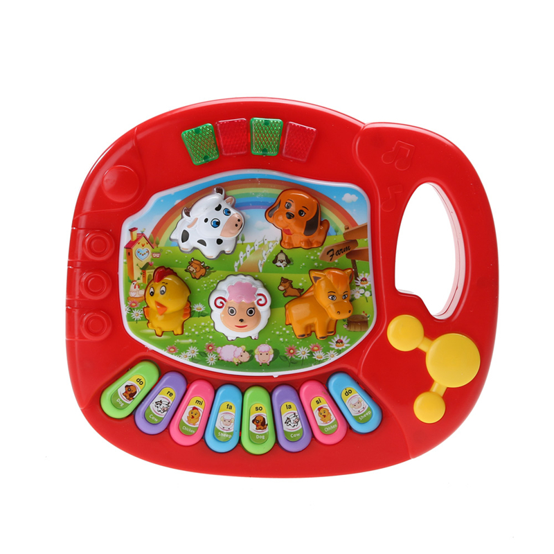 New Baby Kids Musical Piano Animal Farm Developmental Educational Toy Musical Instrument for Children Gift Random Color цена