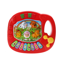 New Baby Kids Musical Piano Animal Farm Developmental Educational Toy Musical Instrument for Children Gift Random
