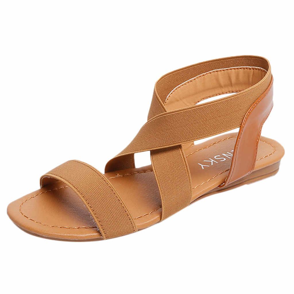 Perimedes Nữ Giày Nữ Trơn Trượt Trên Lưng Nữ Gót Thấp Kẹo Màu Sắc Nữ Sandal Thời Trang Võ Sĩ Giác Đấu Sandalias Plataforma Mujer