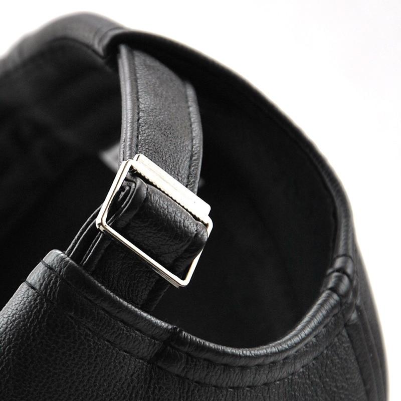 Xthree New fashion kualitas tinggi jatuh musim dingin pria kulit topi - Aksesori pakaian - Foto 6