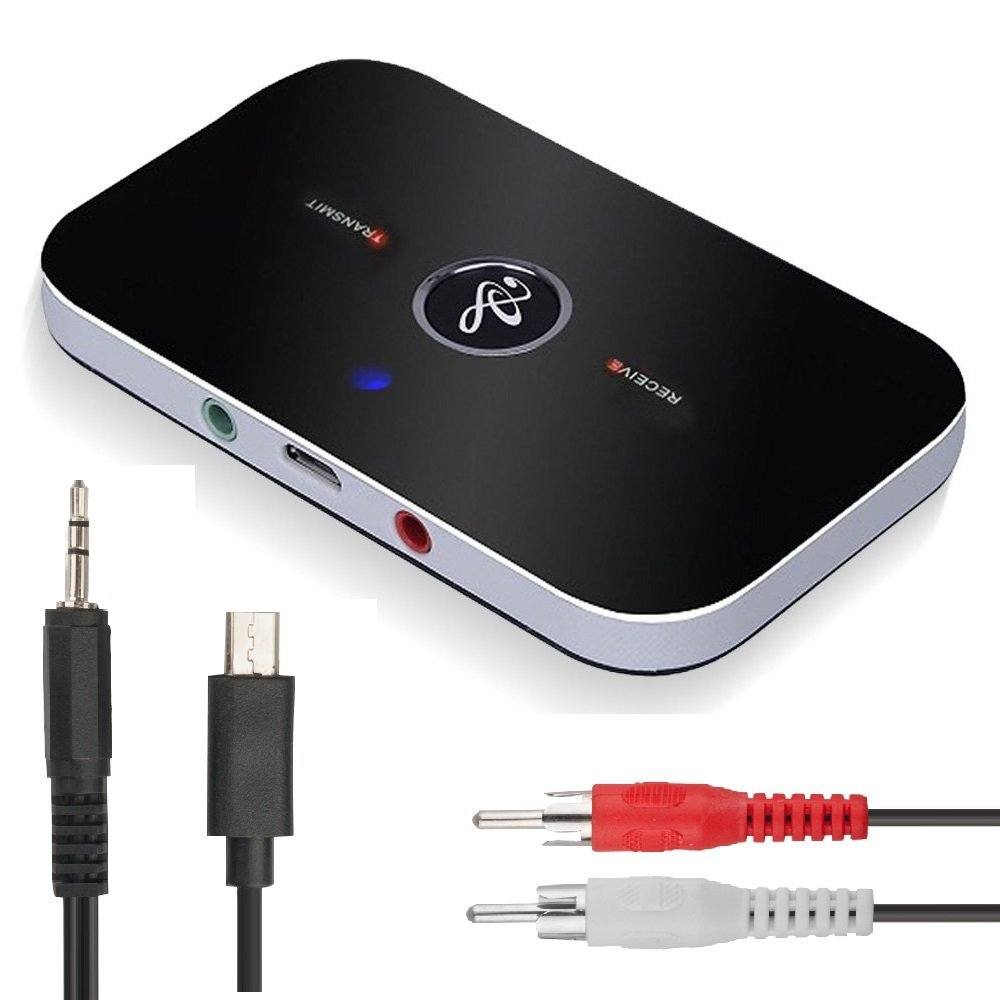B6 2in1 Bluetooth 4.1 Émetteur et Récepteur Sans Fil A2DP Audio adaptateur Aux 3.5mm Audio Lecteur pour TV/Stéréo À La Maison/Smartphone