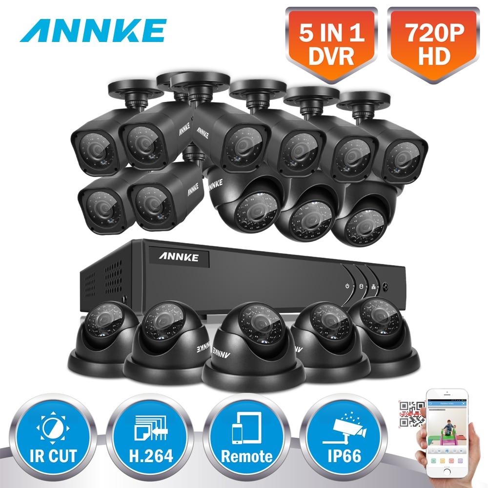 ANNKE 16CH 720P CCTV System 16CH 1080P HDMI DVR 16PCS 720P 1 0MP IR font b
