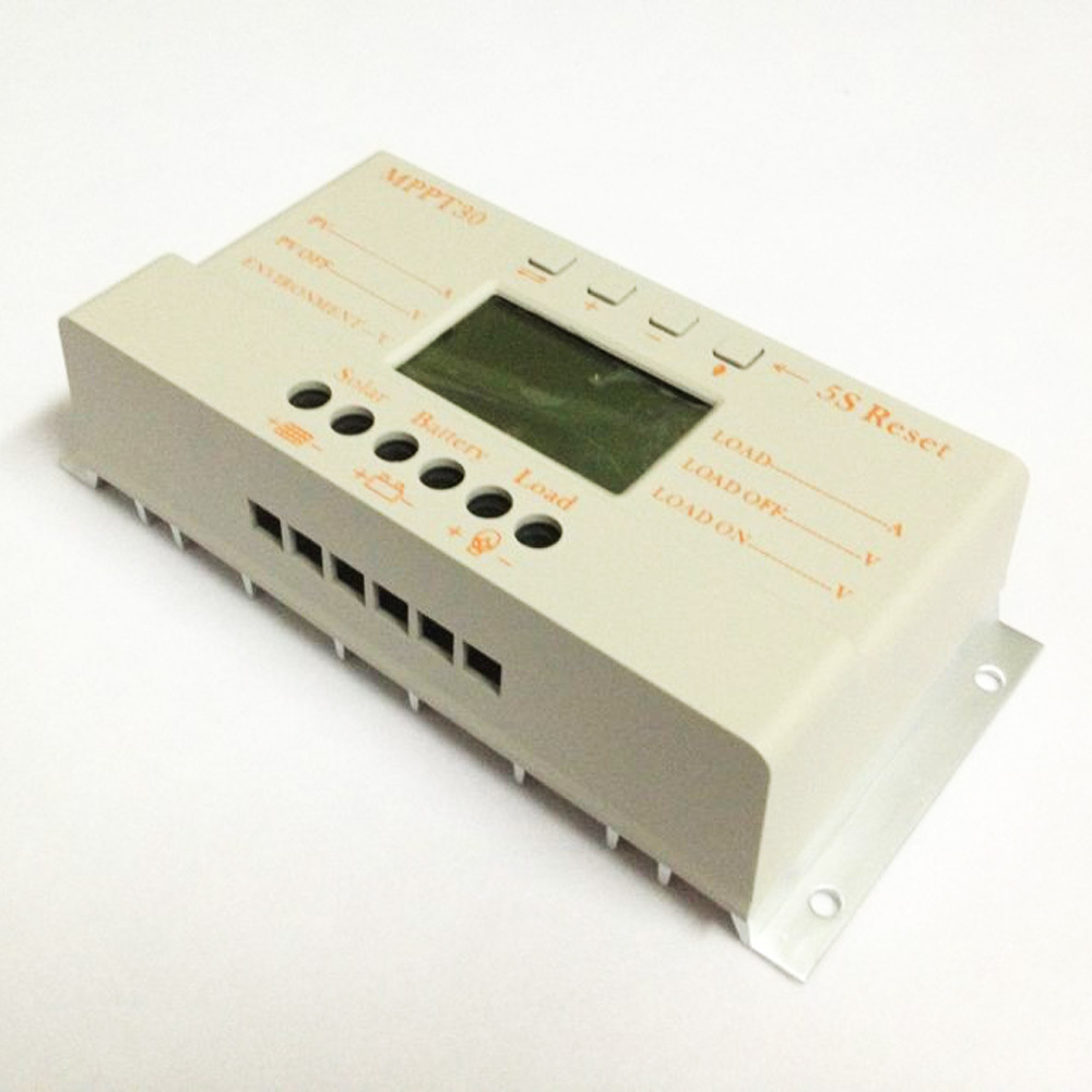 Image 3 - 10 pces, lotes mppt 30a mppt 30 controlador de carga solar 12 v 24 v trabalho automático com display lcd atacadodisplay poledisplay handcontrol v -