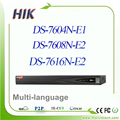 Nvr hikvision multi-idioma 6mp 4/8/16ch ds-7604n-e1 ds-7608n-e2 ds-7616n-e2 substituir ds-7604ni-e1 ds-7608ni-e2 ds-7616ni-e2