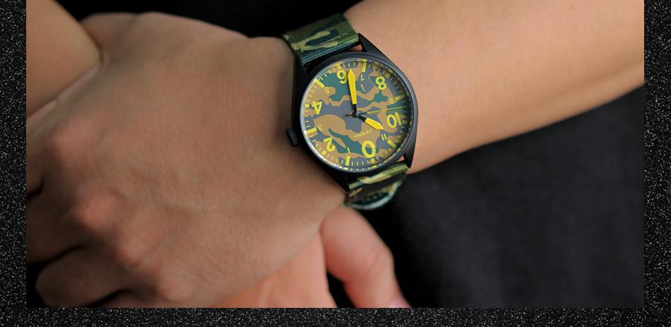 Sinobi Men Military Watch Camouflage Nylon Watch Band