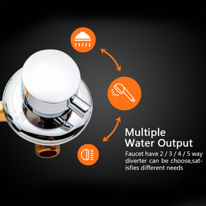 Image 2 - 2/3/4/5 Ways Water Outlet Screw Thread Center Distance 10cm 12.5cm Mixing Valve Brass Bathroom Shower Mixer Faucet Tap Cabin