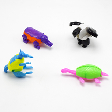 hot deal buy wholesale 100pcs/lot novelty the deformation eagle elephant kangaroo tortoise animal eggs models action toy figures for kid gift