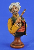 1/10 Mamluk Warrior with Pistol Bust with base toy Resin Model Miniature Kit unassembly Unpainted