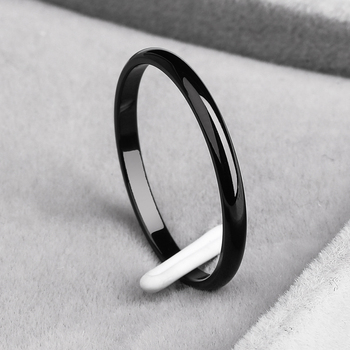 Ramos  2mm titanium steel tricolor combination ring simple smooth fashion ring for a woman or man wedding gift 2