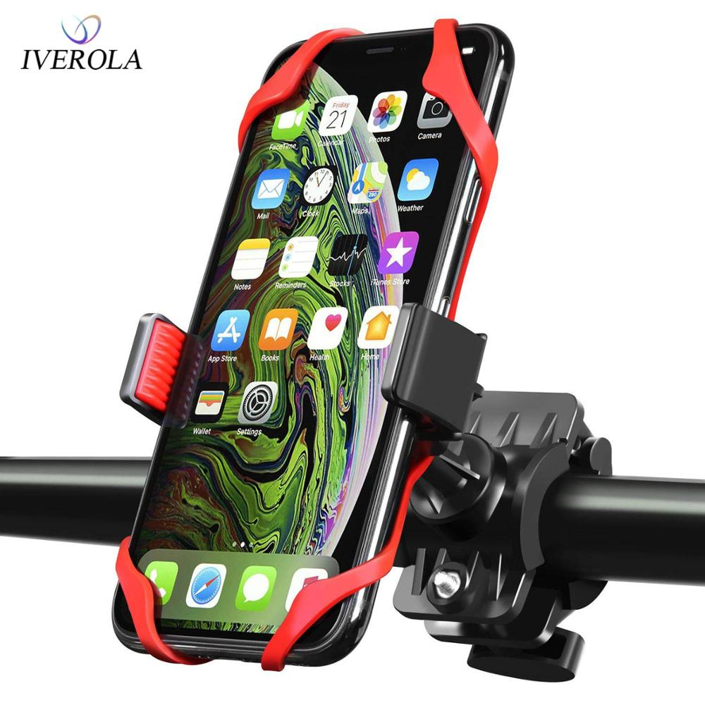 Univerola Bike & Motorcycle Phone Mount For IPhone Xs Samsung Galaxy Universal Handlebar Holder For ATV  GPS Biicycle Support