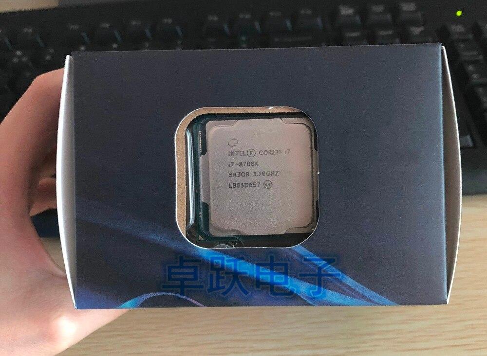 US $445 88 |Intel Core 8 series Processor I7 8700K I7 8700K Boxed processor  CPU +fan LGA 1151 land FC LGA 14 Six Core cpu free shipping-in CPUs from