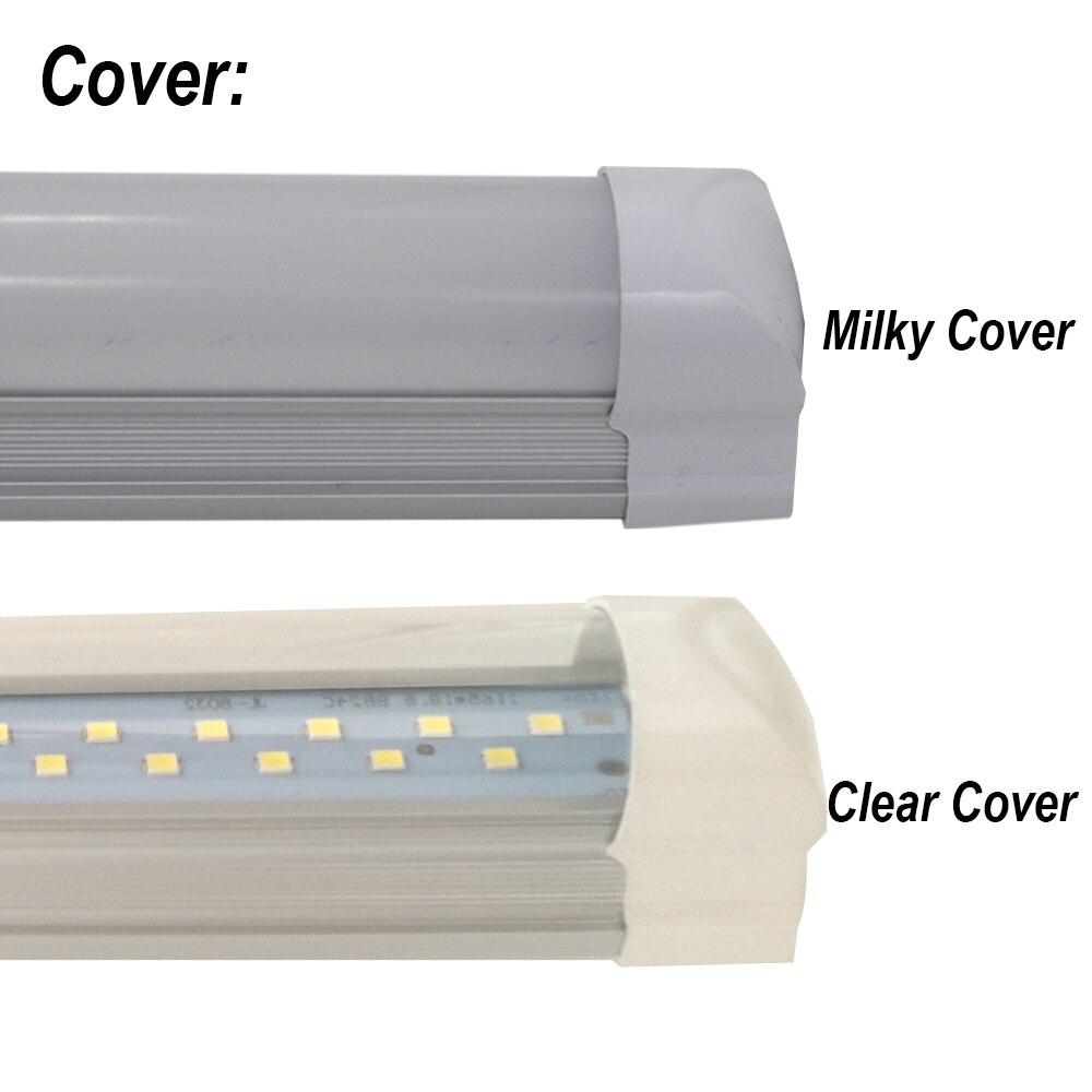 2-50/pack Double rangée tube de lumière LED 2ft 3ft 4ft 5ft 6ft 8ft Super lumineux Double barre lampe T8 intégré ampoule luminaire avec raccords - 3