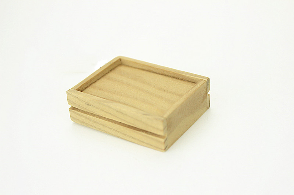 Dollhouse Miniature Mini Small Wood Wooden Tray Box Crate DIY Garden 1:12