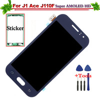 4.3 Super AMOLED HD for Samsung Galaxy J1 Ace SM J110F J110H LCD Display Touch Screen Digitizer Full Assembly Replacement
