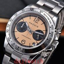 39mm Parnis Men's Quartz Chronograph Watch Top Luxury Brand