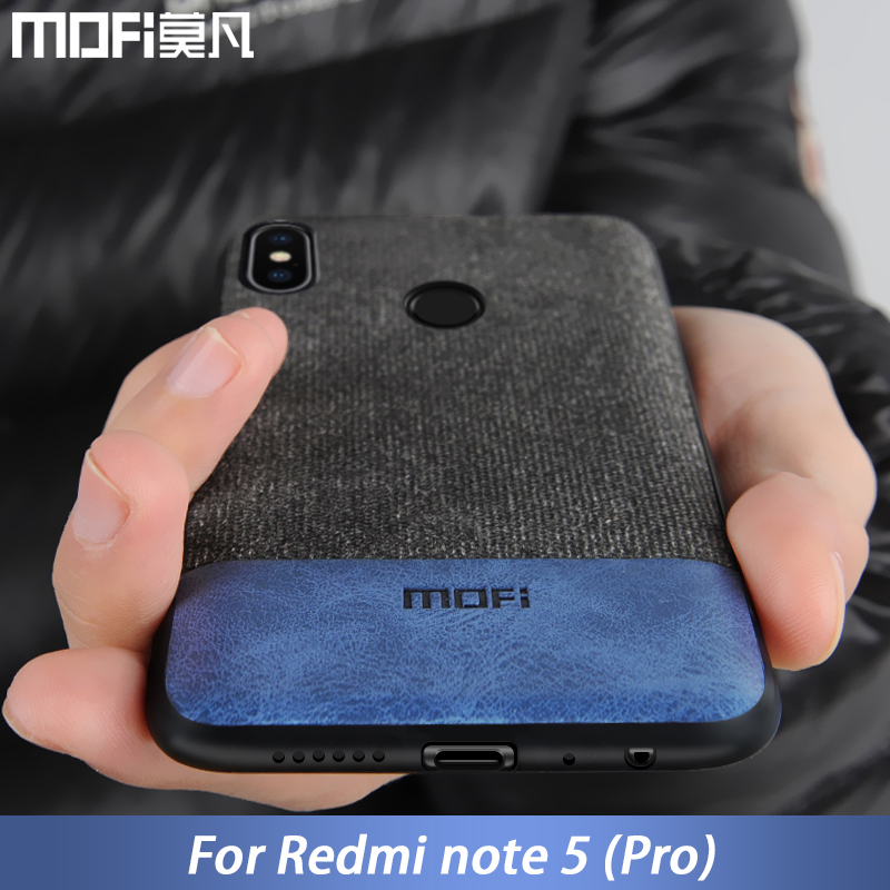 Für Xiaomi Redmi Hinweis 5 fall abdeckung note5 Globale Version zurück abdeckung silikon rand stoff fall coque MOFi Redmi hinweis 5 pro fall