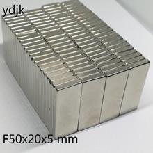 10 יח\חבילה N35 מלבני מגנט 50x20x5 Neodymium מגנט 50*20*5 NdFeB מגנט 50x20x5