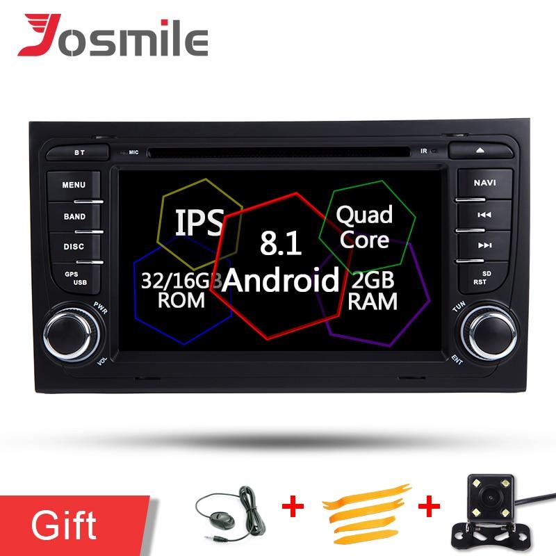Android 8.1 Voiture DVD GPS Lecteur Pour Audi/A4/S4/RS4 2002-2008 Quad Core 2G RAM Multimédia Navigation Auto Stéréo Autoradio FM OBD