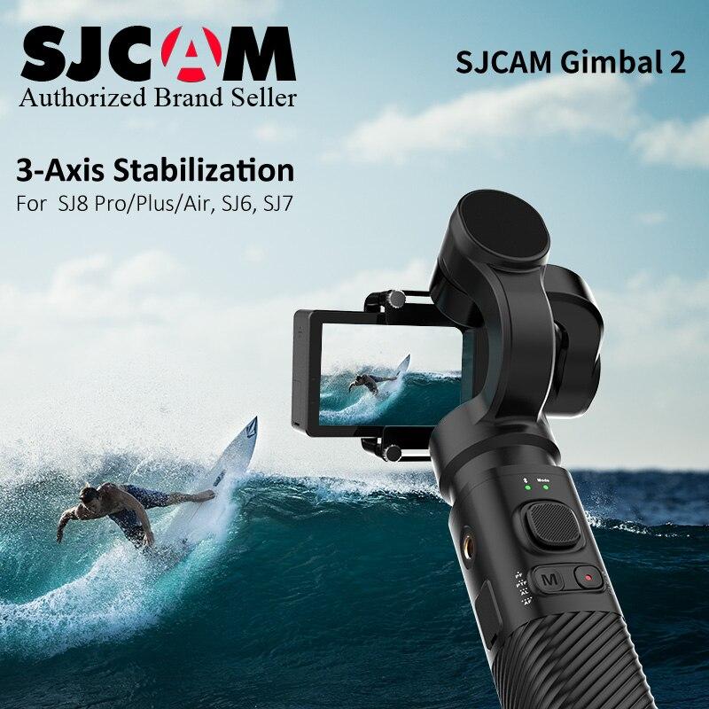 Novo SJCAM SJ-2 3-Eixo Cardan CARDAN Handheld Estabilizador de Controle Bluetooth para SJ6 SJ7 SJ8 Ar/ pro/Plus Câmera de Ação para Yi Cam