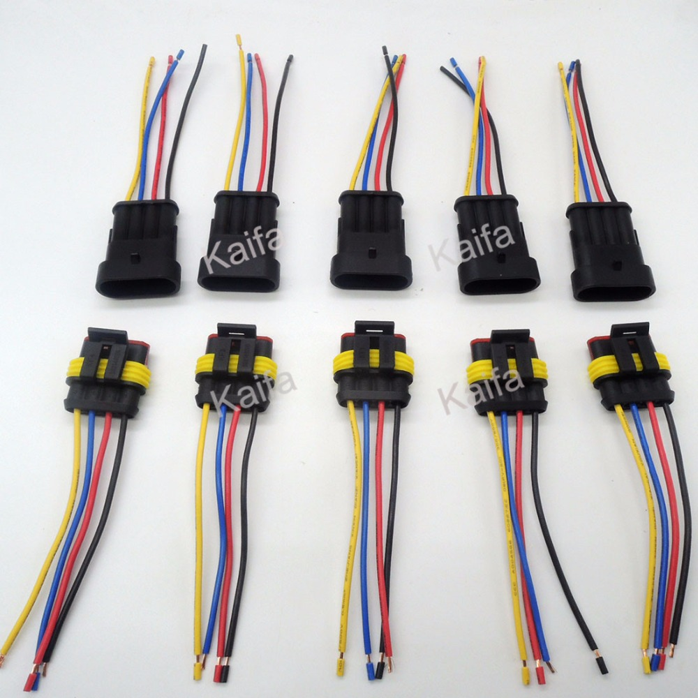online buy whole 4 wire harness from 4 wire harness 5 sets 4 pin car waterproof electrical connector plug wire electrical wire cable car motorcycle