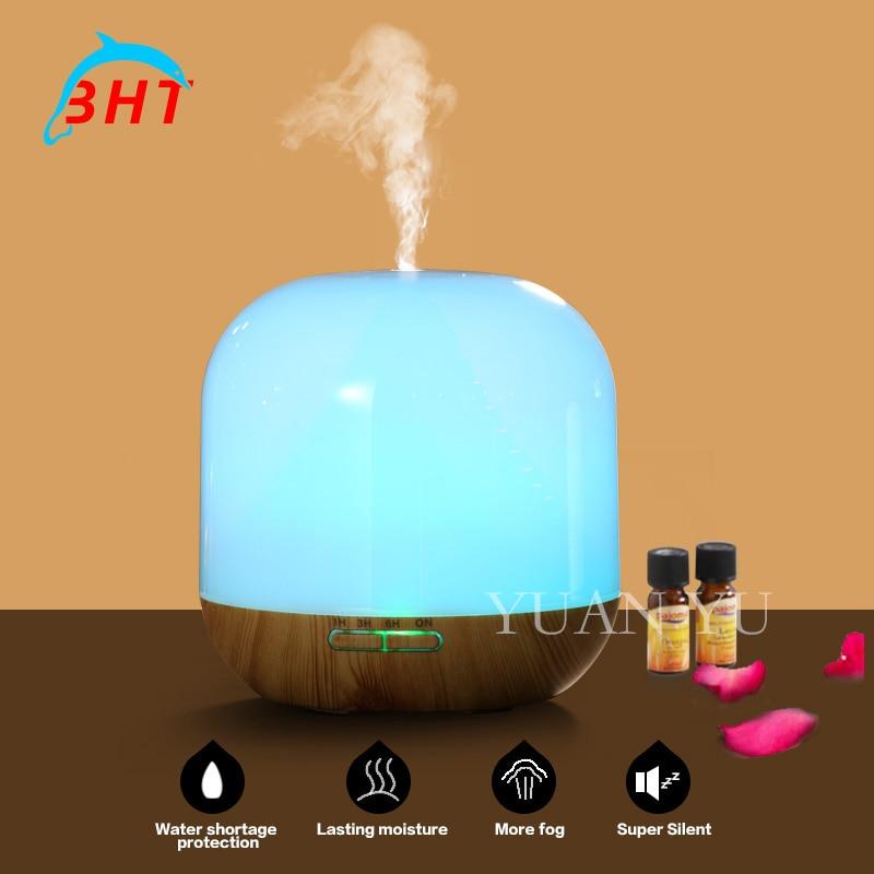 ФОТО New Aroma Aromatherapy Humidifier Ultrasonic Automatic Mini Diffuser LED Wood Grain Essential Oil Diffuser Cool Mist Maker
