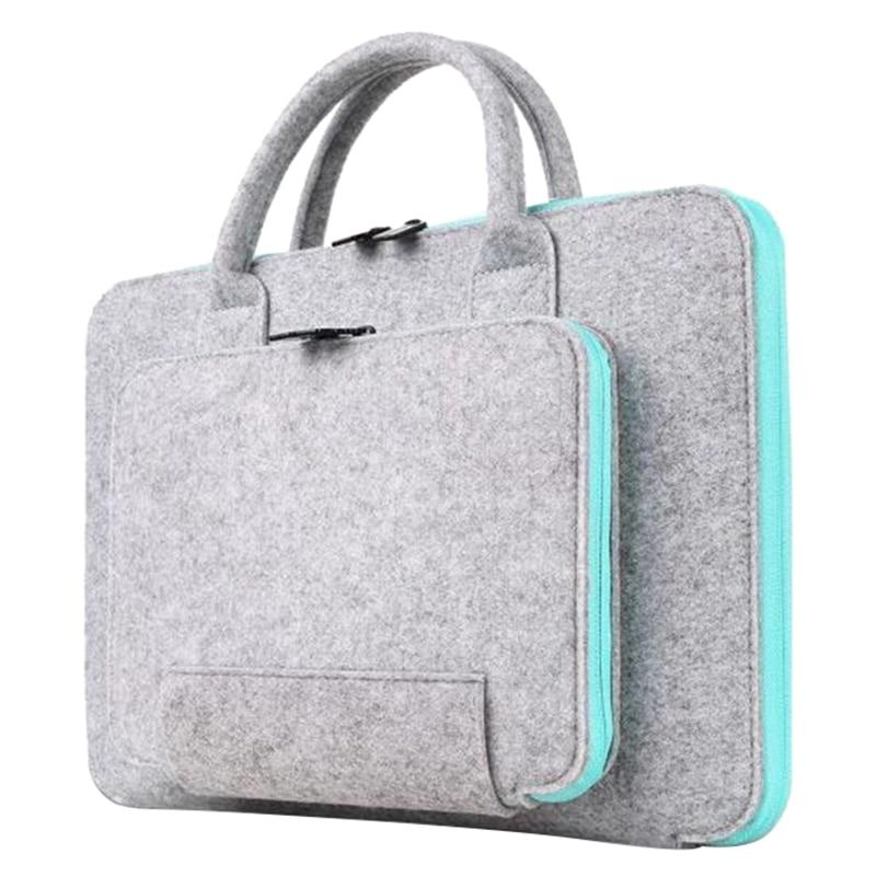 New Felt Universal Laptop Bag Notebook Case Briefcase Handlebag Pouch For Mac book Air Pro Retina Men Women 11/12/13