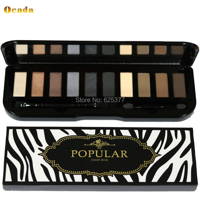 2016 The New Arrival 10 colors  Eyeshadow Super Flash Sombra De Olho Colorful  Metallic Box Eye shadow Pallete with brush makeup