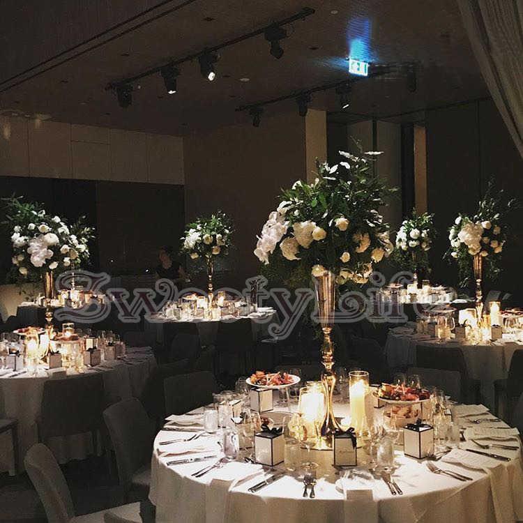 Gold Wedding Flower Vase Metal Table Centerpiece Wedding