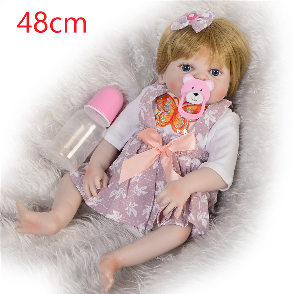 Bebes Reborn Girl Baby Doll Full Silicone Body Realistic Princess Newborn Doll For Kid Birthday Gift Child Shower Toy 1948cmBebes Reborn Girl Baby Doll Full Silicone Body Realistic Princess Newborn Doll For Kid Birthday Gift Child Shower Toy 1948cm