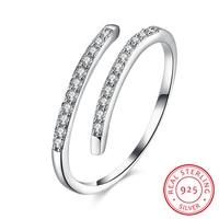 Jemmin פתוח תכשיטי נשים טבעות כסף סטרלינג טהור מיקרו יהלומי חתונת אירוסין מתנת אבזר Anillos טבעת אצבע