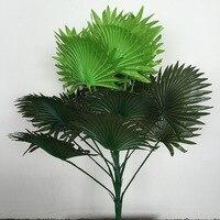 60 см 15 лист искусственный кокосовый вентилятор растение Пальма дерево Свадьба Главная церковь флорист мебель Декор без ваза Поддельные Лис...