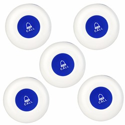 5pcs Call Button Waiter Wireless Calling System For Restaurant Hotel Call Bell Pager Waterproof Equipment Customer Service
