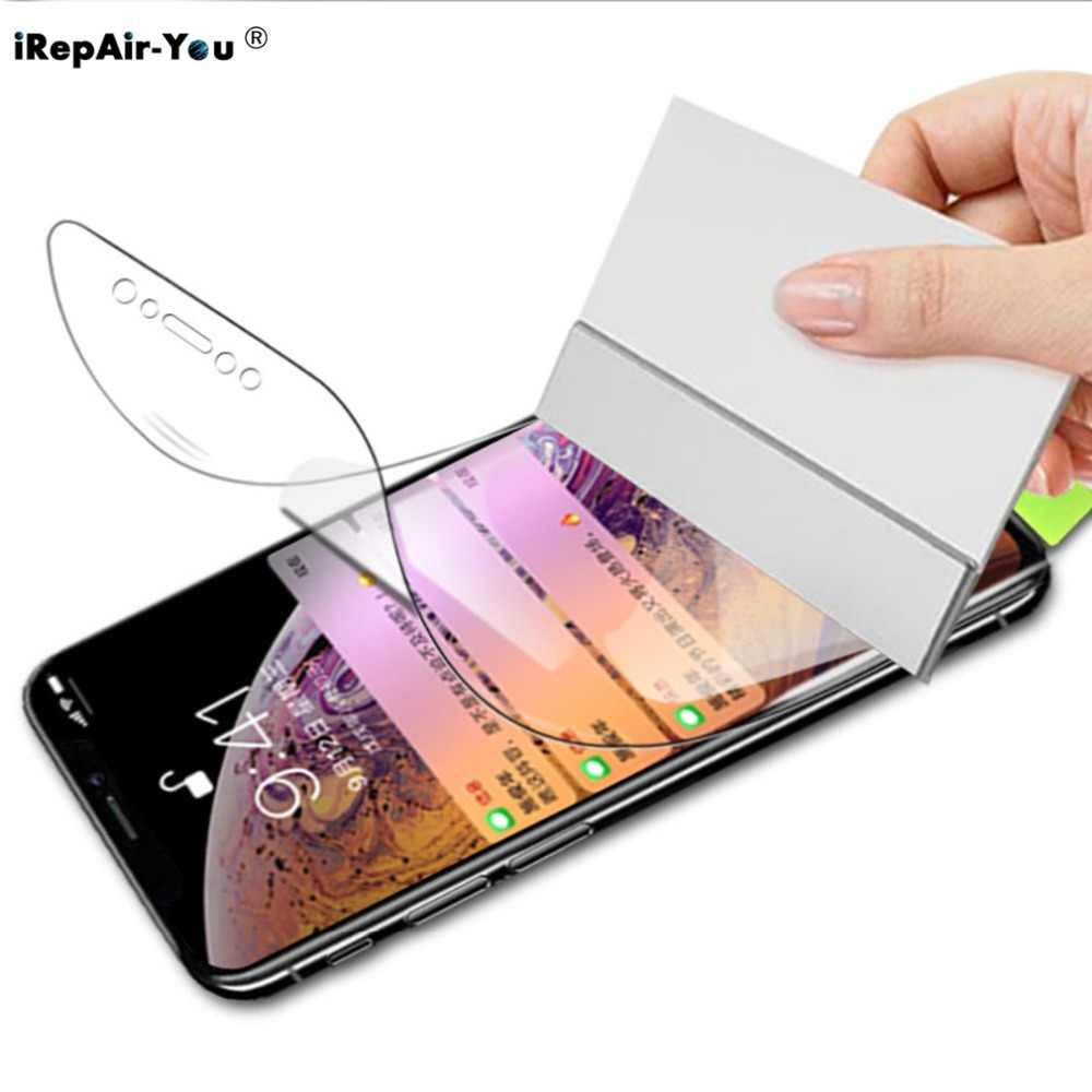 9D Nano Soft TPU Hydrogel Film For iPhone 11 Pro Max 11 X XS XR XS Max 6 6S 7 8 Plus Full Cover Screen Protector Film Not Glass